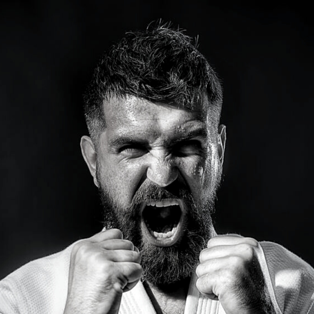 man yelling about how Combat Arts training has given him confidence